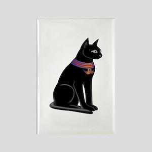 Egyptian Cat Goddess Bastet Rectangle Magnet