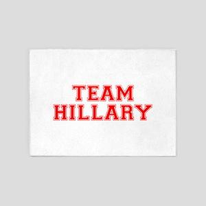 Team Hillary-Var red 500 5'x7'Area Rug