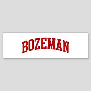 BOZEMAN (red) Bumper Sticker