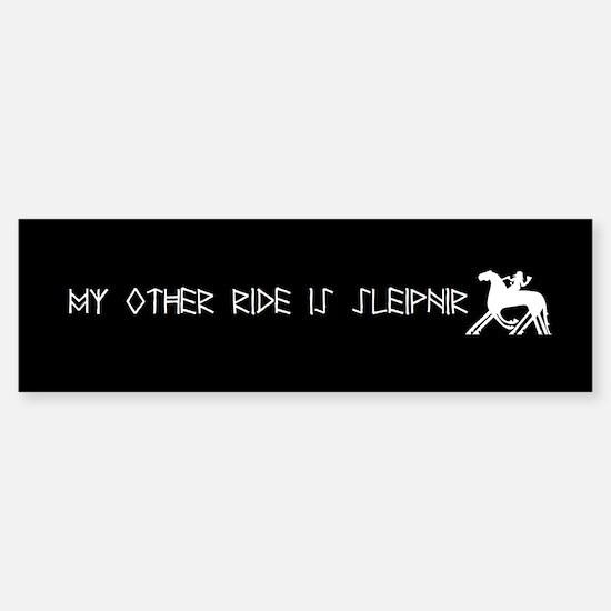 My Other Ride Is Sleipnir Bumper Bumper Sticker Bumper Bumper Bumper Sticker