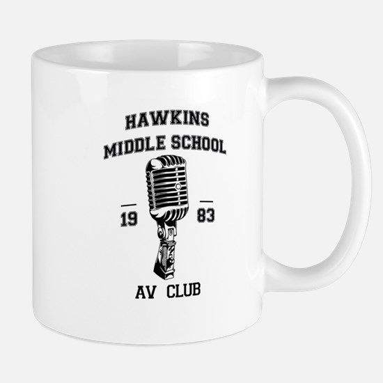 Hawkins Middle AV Club Mugs