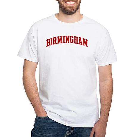 BIRMINGHAM (red) White T-Shirt
