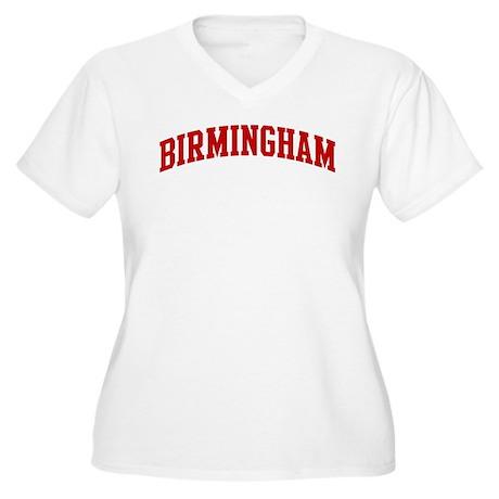 BIRMINGHAM (red) Women's Plus Size V-Neck T-Shirt
