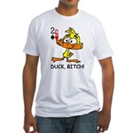 Duck Bitch Poker Fitted T-Shirt