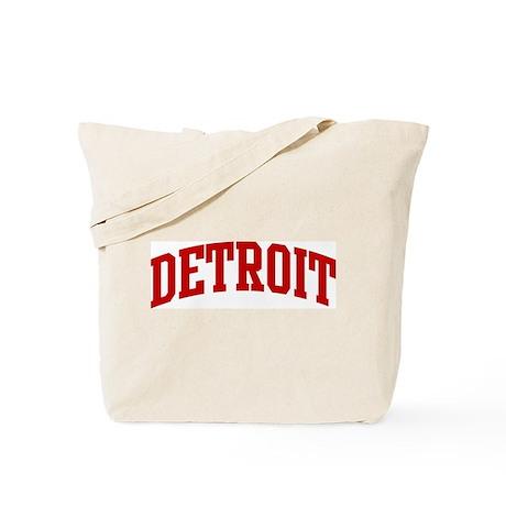 DETROIT (red) Tote Bag