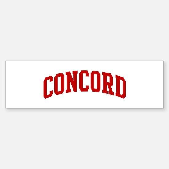 CONCORD (red) Bumper Bumper Bumper Sticker