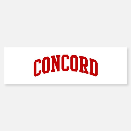 CONCORD (red) Bumper Bumper Stickers
