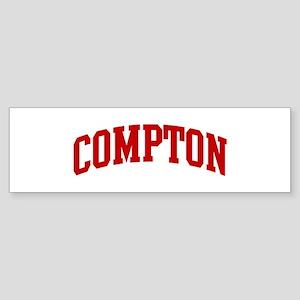 COMPTON (red) Bumper Sticker