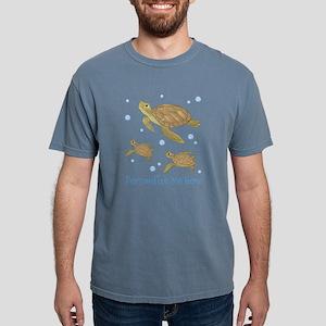 Personalized Sea Turtle Mens Comfort Colors Shirt