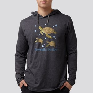 Personalized Sea Turtle Mens Hooded Shirt
