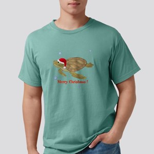 Personalized Christmas Turtle Mens Comfort Colors