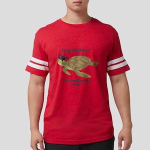 Graduation Turtle Mens Football Shirt