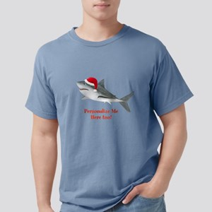 Personalized Christmas Shark Mens Comfort Colors S