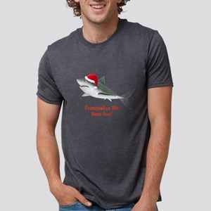 Personalized Christmas Shark Mens Tri-blend T-Shir