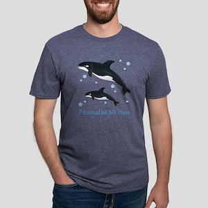 Personalized Killer Whale Mens Tri-blend T-Shirt