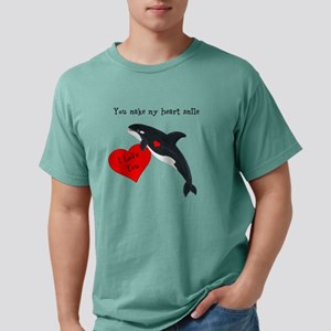 Personalized Whale Valentine Mens Comfort Colors S