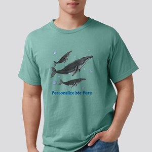 Personalized Humpback Whale Mens Comfort Colors Sh