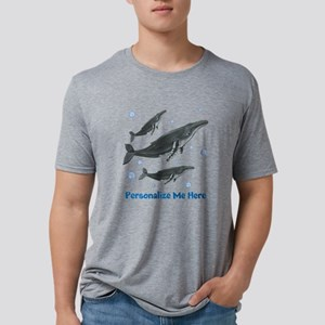 Personalized Humpback Whale Mens Tri-blend T-Shirt