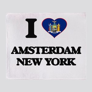 I love Amsterdam New York Throw Blanket