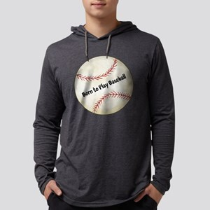 Baseball Mens Hooded Shirt