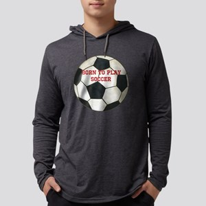 Soccer Mens Hooded Shirt