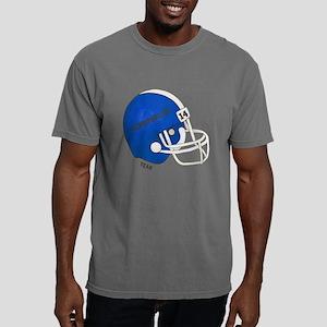 Blue Football Helmet Mens Comfort Colors Shirt