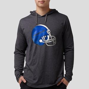 Blue Football Helmet Mens Hooded Shirt