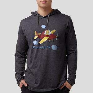 Personalized Airplane - Dinosaur Mens Hooded Shirt