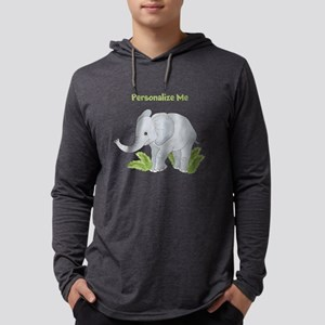 Personalized Elephant Mens Hooded Shirt