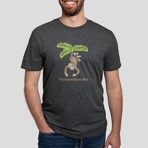 Personalized Monkey Mens Tri-blend T-Shirt