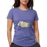 Sleeping Mouse Womens Tri-blend T-Shirt