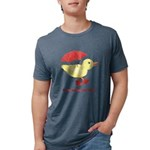 Personalized Duck Mens Tri-blend T-Shirt