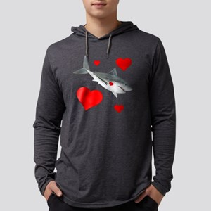 Valentine Shark Mens Hooded Shirt