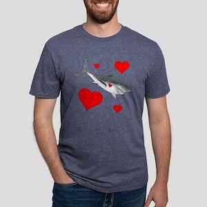 Valentine Shark Mens Tri-blend T-Shirt