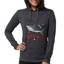 Shark - Bite Me Womens Hooded Shirt