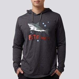 Shark - Bite Me Mens Hooded Shirt