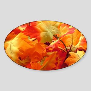 Bright fall leaves Sticker