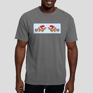 Santa Clown Fish Mens Comfort Colors Shirt