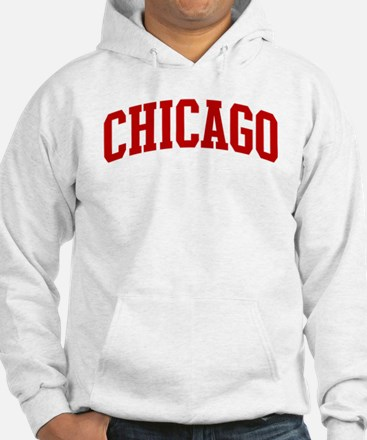 CHICAGO (red) Hoodie Sweatshirt