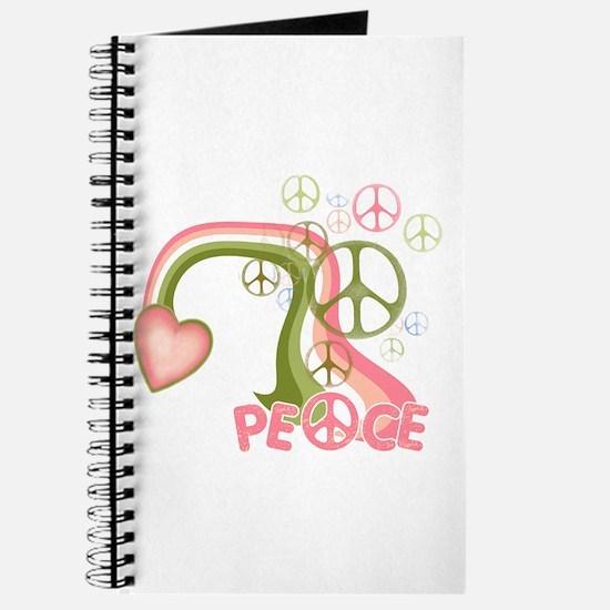 Peace And Love Rainbow Journal