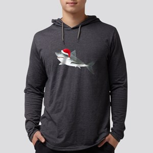 Christmas - Santa Shark Mens Hooded Shirt