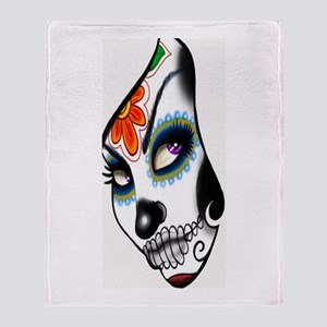 Sugar Skull 016 Throw Blanket