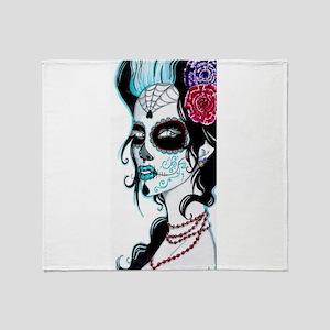 Sugar Skull 020 Throw Blanket