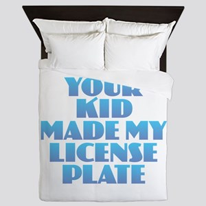 License Plate - Blue Queen Duvet