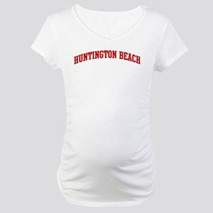 HUNTINGTON BEACH (red) Maternity T-Shirt