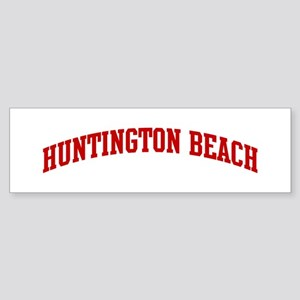 HUNTINGTON BEACH (red) Bumper Sticker