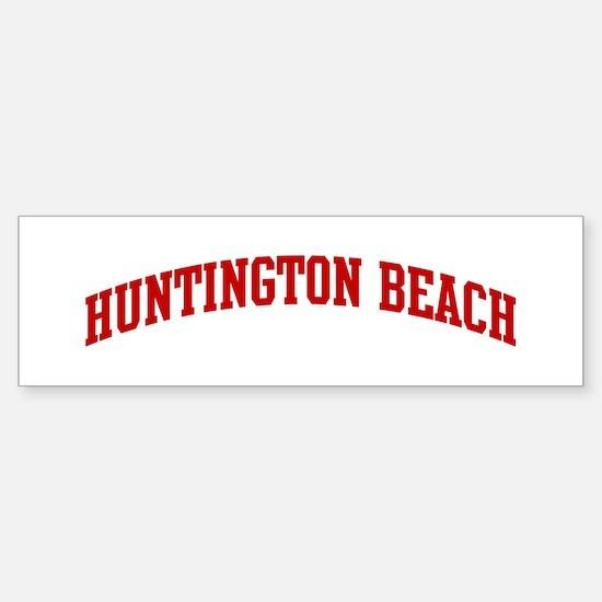HUNTINGTON BEACH (red) Bumper Bumper Bumper Sticker