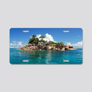 Tropical Island Aluminum License Plate