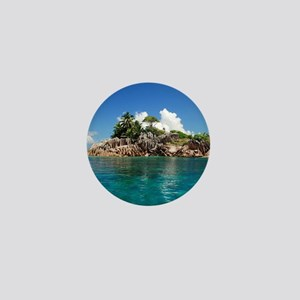 Tropical Island Mini Button