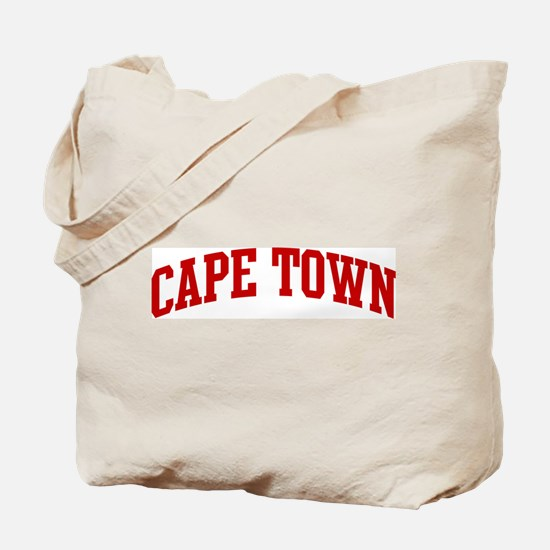 CAPE TOWN (red) Tote Bag